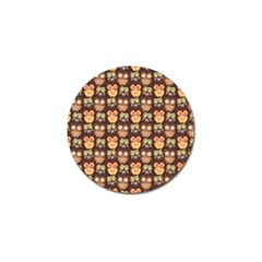 Eye Owl Line Brown Copy Golf Ball Marker (10 Pack) by AnjaniArt