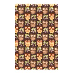 Eye Owl Line Brown Copy Shower Curtain 48  X 72  (small)  by AnjaniArt