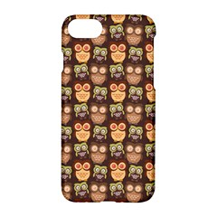Eye Owl Line Brown Copy Apple iPhone 7 Hardshell Case