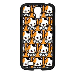 Face Cat Yellow Cute Samsung Galaxy S4 I9500/ I9505 Case (black) by AnjaniArt