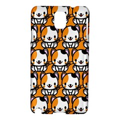 Face Cat Yellow Cute Samsung Galaxy Note 3 N9005 Hardshell Case by AnjaniArt
