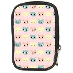 Face Cute Cat Compact Camera Cases by AnjaniArt