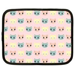 Face Cute Cat Netbook Case (xxl)  by AnjaniArt