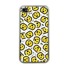 Face Smile Yellow Copy Apple Iphone 4 Case (clear) by AnjaniArt