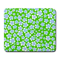 Flower Green Copy Large Mousepads by AnjaniArt