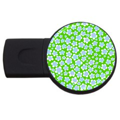 Flower Green Copy Usb Flash Drive Round (2 Gb)  by AnjaniArt