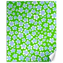 Flower Green Copy Canvas 16  X 20   by AnjaniArt