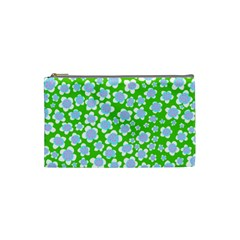 Flower Green Copy Cosmetic Bag (small)  by AnjaniArt