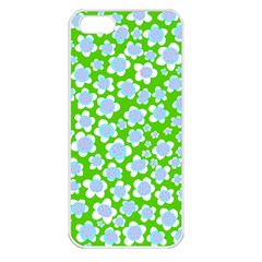 Flower Green Copy Apple iPhone 5 Seamless Case (White)