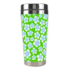Flower Green Copy Stainless Steel Travel Tumblers by AnjaniArt