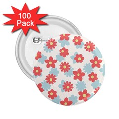 Flower Pink 2 25  Buttons (100 Pack)  by AnjaniArt