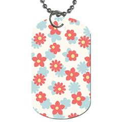 Flower Pink Dog Tag (one Side) by AnjaniArt