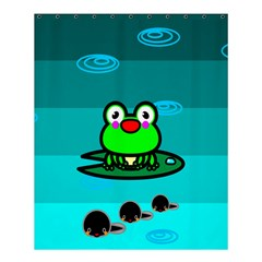 Frog Tadpole Green Shower Curtain 60  X 72  (medium)  by AnjaniArt