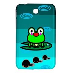 Frog Tadpole Green Samsung Galaxy Tab 3 (7 ) P3200 Hardshell Case  by AnjaniArt