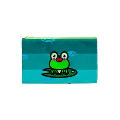 Frog Tadpole Green Cosmetic Bag (xs) by AnjaniArt