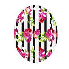 Flower Rose Oval Filigree Ornament (2 Side)  by AnjaniArt