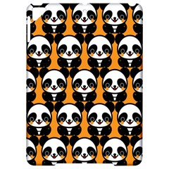 Halloween Night Cute Panda Orange Apple Ipad Pro 9 7   Hardshell Case