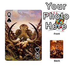 Queen Baraja Frazetta By Fran Xab   Playing Cards 54 Designs   Qmfnhc5m5vwg   Www Artscow Com Front - SpadeQ