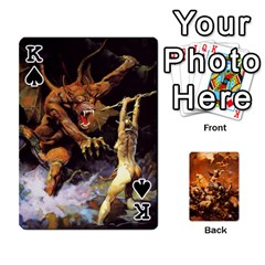 King Baraja Frazetta By Fran Xab   Playing Cards 54 Designs   Qmfnhc5m5vwg   Www Artscow Com Front - SpadeK