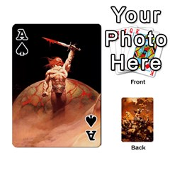 Ace Baraja Frazetta By Fran Xab   Playing Cards 54 Designs   Qmfnhc5m5vwg   Www Artscow Com Front - SpadeA