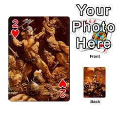 Baraja Frazetta By Fran Xab   Playing Cards 54 Designs   Qmfnhc5m5vwg   Www Artscow Com Front - Heart2