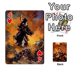Baraja Frazetta By Fran Xab   Playing Cards 54 Designs   Qmfnhc5m5vwg   Www Artscow Com Front - Heart4