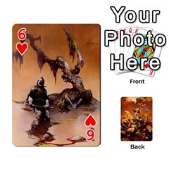 Baraja Frazetta By Fran Xab   Playing Cards 54 Designs   Qmfnhc5m5vwg   Www Artscow Com Front - Heart6