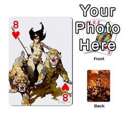 Baraja Frazetta By Fran Xab   Playing Cards 54 Designs   Qmfnhc5m5vwg   Www Artscow Com Front - Heart8