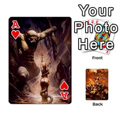 Ace Baraja Frazetta By Fran Xab   Playing Cards 54 Designs   Qmfnhc5m5vwg   Www Artscow Com Front - HeartA