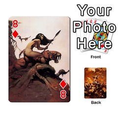 Baraja Frazetta By Fran Xab   Playing Cards 54 Designs   Qmfnhc5m5vwg   Www Artscow Com Front - Diamond8