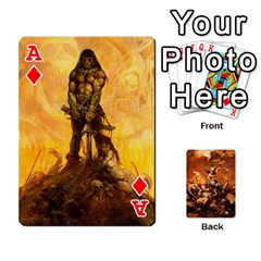 Ace Baraja Frazetta By Fran Xab   Playing Cards 54 Designs   Qmfnhc5m5vwg   Www Artscow Com Front - DiamondA