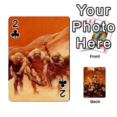 Baraja Frazetta By Fran Xab   Playing Cards 54 Designs   Qmfnhc5m5vwg   Www Artscow Com Front - Club2