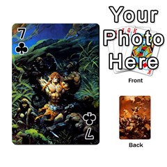 Baraja Frazetta By Fran Xab   Playing Cards 54 Designs   Qmfnhc5m5vwg   Www Artscow Com Front - Club7