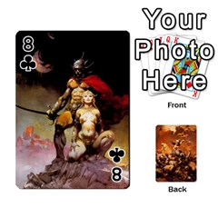 Baraja Frazetta By Fran Xab   Playing Cards 54 Designs   Qmfnhc5m5vwg   Www Artscow Com Front - Club8