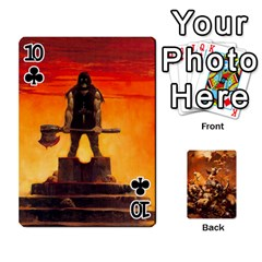 Baraja Frazetta By Fran Xab   Playing Cards 54 Designs   Qmfnhc5m5vwg   Www Artscow Com Front - Club10