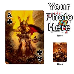 Ace Baraja Frazetta By Fran Xab   Playing Cards 54 Designs   Qmfnhc5m5vwg   Www Artscow Com Front - ClubA