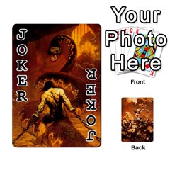 Baraja Frazetta By Fran Xab   Playing Cards 54 Designs   Qmfnhc5m5vwg   Www Artscow Com Front - Joker1