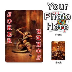 Baraja Frazetta By Fran Xab   Playing Cards 54 Designs   Qmfnhc5m5vwg   Www Artscow Com Front - Joker2