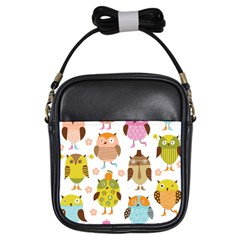 Highres Owls Girls Sling Bags by AnjaniArt