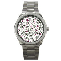 Leaf Back Purple Copy Sport Metal Watch by AnjaniArt