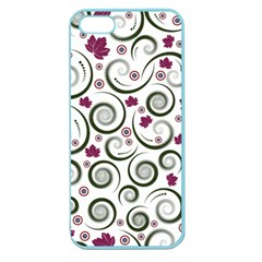 Leaf Back Purple Copy Apple Seamless Iphone 5 Case (color) by AnjaniArt