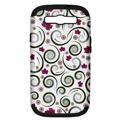 Leaf Back Purple Copy Samsung Galaxy S Iii Hardshell Case (pc+silicone) by AnjaniArt