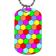 Hexagonal Tiling Dog Tag (one Side) by AnjaniArt