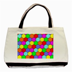 Hexagonal Tiling Basic Tote Bag by AnjaniArt