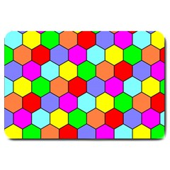 Hexagonal Tiling Large Doormat  by AnjaniArt