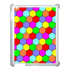 Hexagonal Tiling Apple Ipad 3/4 Case (white) by AnjaniArt