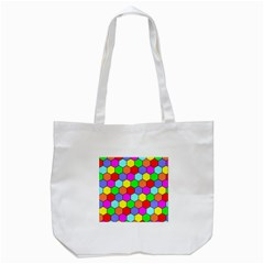 Hexagonal Tiling Tote Bag (white) by AnjaniArt