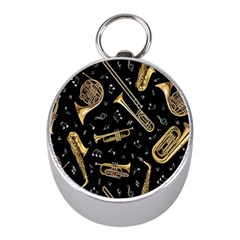 Instrument Saxophone Jazz Mini Silver Compasses by AnjaniArt
