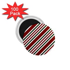Line Christmas Stripes 1 75  Magnets (100 Pack)  by AnjaniArt