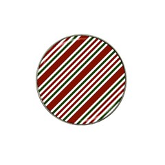 Line Christmas Stripes Hat Clip Ball Marker by AnjaniArt
